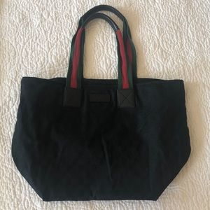 Gucci Web GG Tote Bag - Black